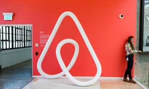 Inside the Airbnb headquarters. The company is one of the renowned technology companies to have been made public.