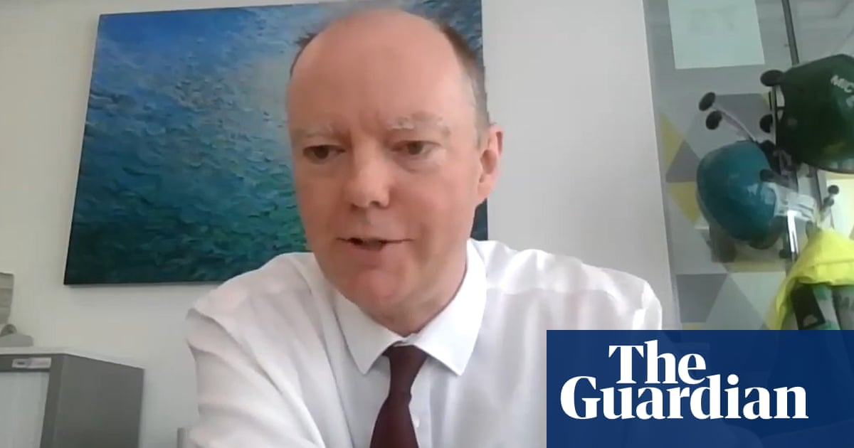 Learn to live with Covid in similar way to flu, says Prof Chris Whitty – video