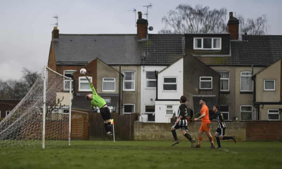 Sunday league action in Leicester in mid-March, shortly before the lockdown.