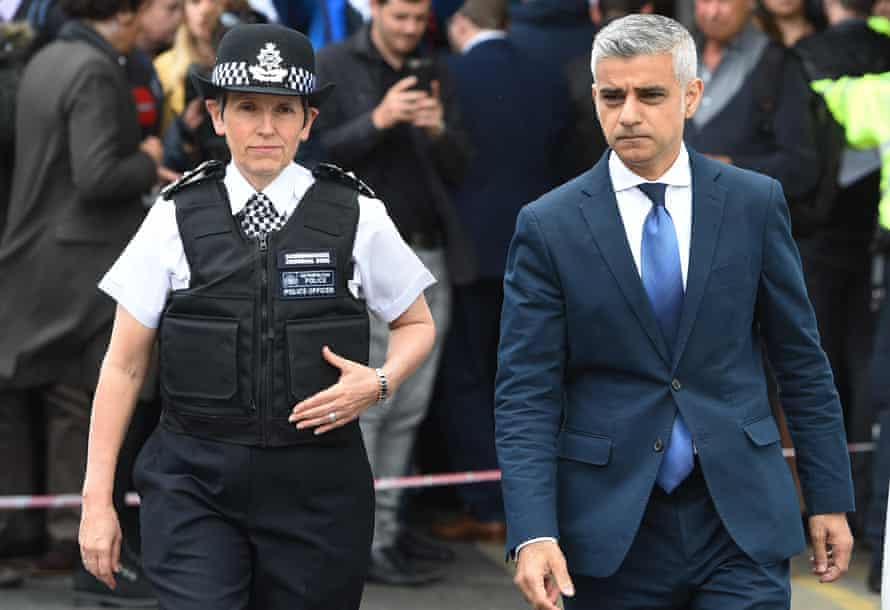Cressida Dick with the mayor of London, Sadiq Khan