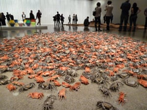 Porcelain crabs in Ai Weiwei's installation He Xie, at the Art Gallery of Ontario in 2013.