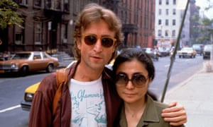 Yoko Ono with her husband John Lennon in New York, 1980, the year he was murdered.