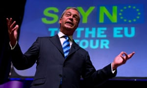 Ukip leader Nigel Farage on the 'say no to the EU' tour, in Margate.