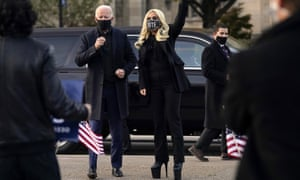 Joe Biden and Lady Gaga in Pennsylvania.