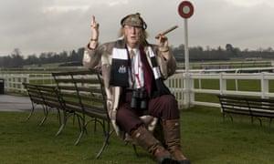 John McCririck at Lingfield Park racecourse in Surrey in 2009.