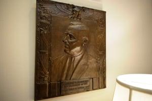 A portrait of Franklin Roosevelt in the Roosevelt Room