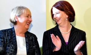 Jenny Macklin with prime minister Julia Gillard