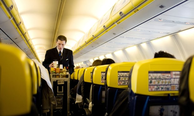 Ryanair was found to have the most expensive in-flight refreshments. Photograph: Alamy