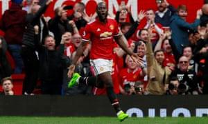 Manchester united 4 0 everton premier league as it happened manchester uniteds romelu lukaku celebrates scoring their third goal stopboris Gallery