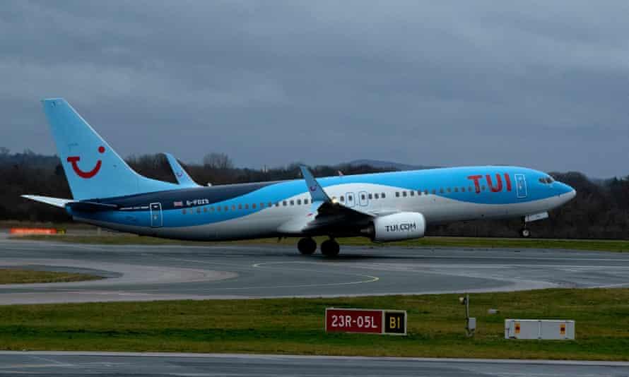 A Tui aircraft takes off