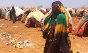 Refugees in a camp in Baidoa, central Somalia.