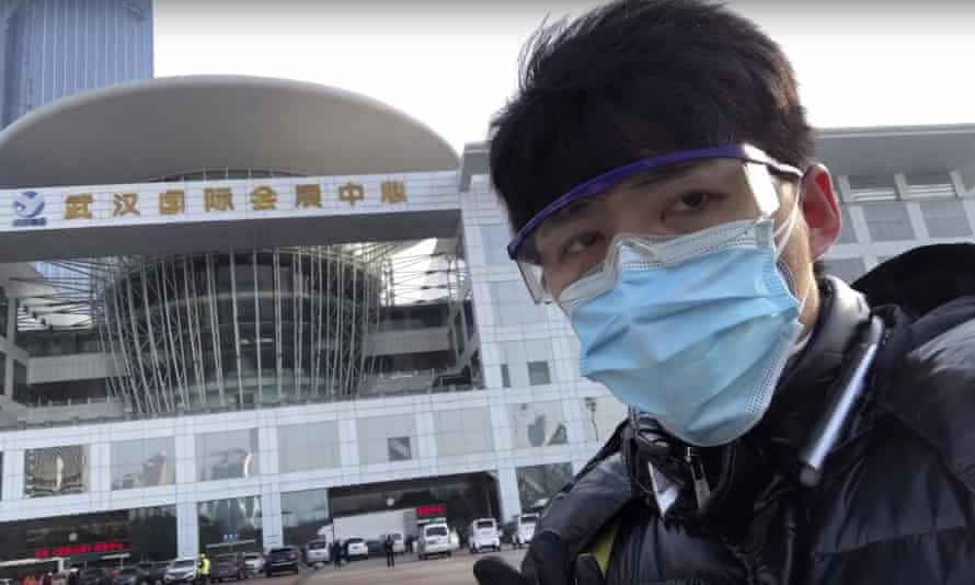 Chinese citizen journalist Chen Qiushi who disappeared while reporting on the coronavirus in Wuhan, China.