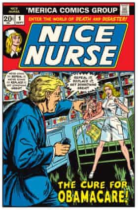 From Sikoryak's The Unquotable Trump, based on Winslow Mortimer's cover for Night Nurse #3, March 1973.