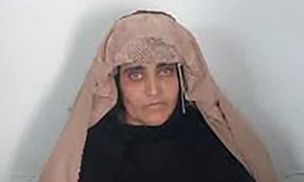 Sharbat Gula before her court hearing in Peshawar