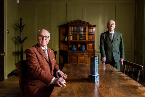 Artists Gilbert and George by David Levene