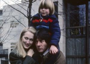 Meryl Streep, Dustin Hoffman and Justin Henry in the 1979 film adaptation of Avery Corman's novel Kramer vs Kramer.