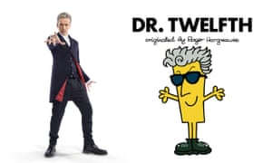 Time Lord mashup … the current Doctor, Peter Capaldi, and forthcoming book Dr. Twelfth