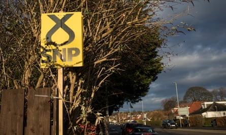 Sign showing support for the SNP.
