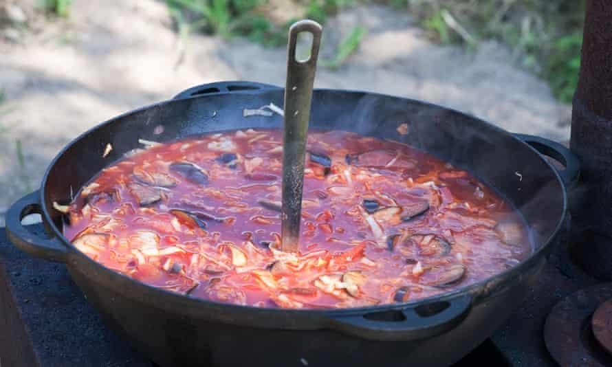 Russian borscht soup.