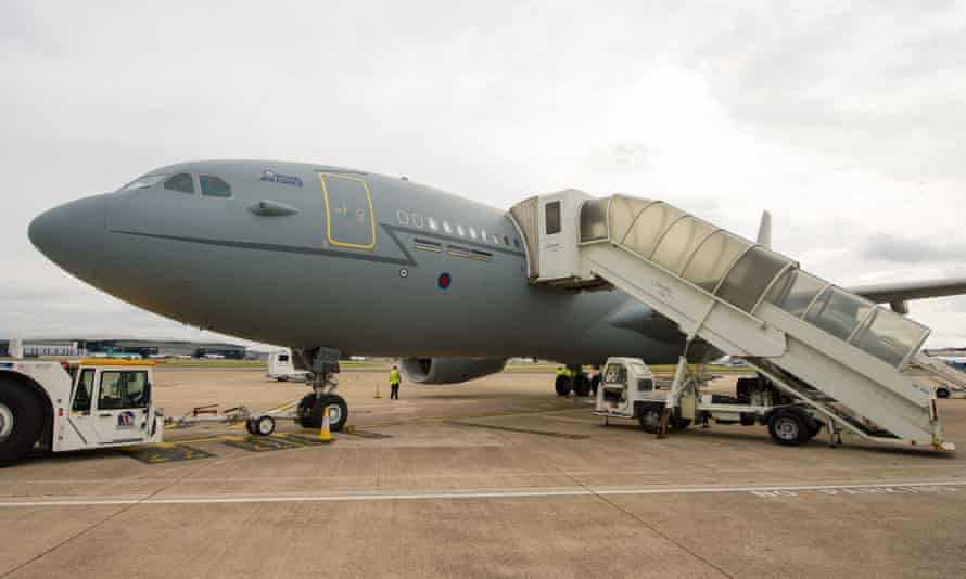 The RAF Voyager plane on the tarmac at Heathrow airport, London, in 2016