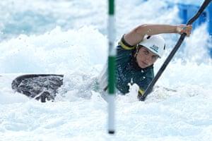 Jess Fox of Australia has finished third in the women's K1 slalom.