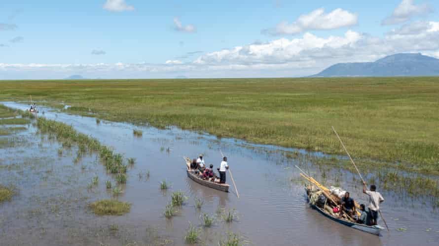 Ferrying people across the northern side of Lake Chilwa