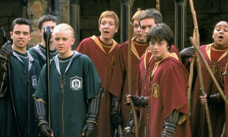 Marriage material...? Tom Felton as Draco, and Daniel Radcliffe in 2002's Harry Potter and the Chamber of Secrets.
