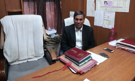 Lawyer Vinay Sharma in his chambers in the city of Dwarka in north-west India