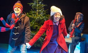 Nazerene Williams (centre), with Antony Antunes and Kate Winder in Snowflakes.