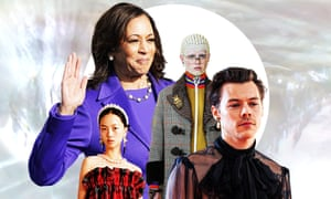 Kamala Harris in her trademark pearls, Gucci and Simon Rocha's H&;M collection, and Harry Styles