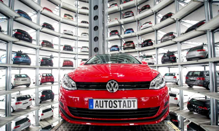 A VW Golf at its factory in Wolfsburg, Germany