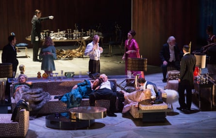 Party without end … The Exterminating Angel in rehearsal at Salzburg.