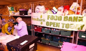 A food bank in Glasgow