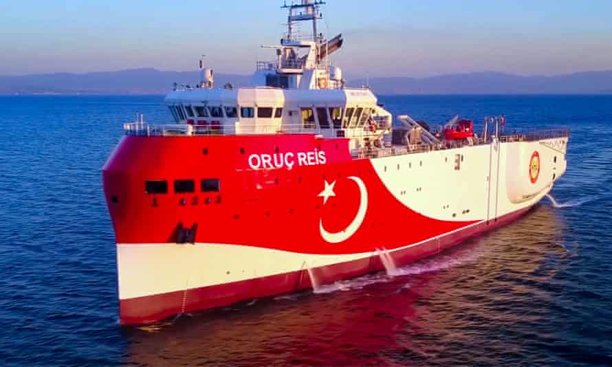 The Turkish ship, the Oruç Reis
