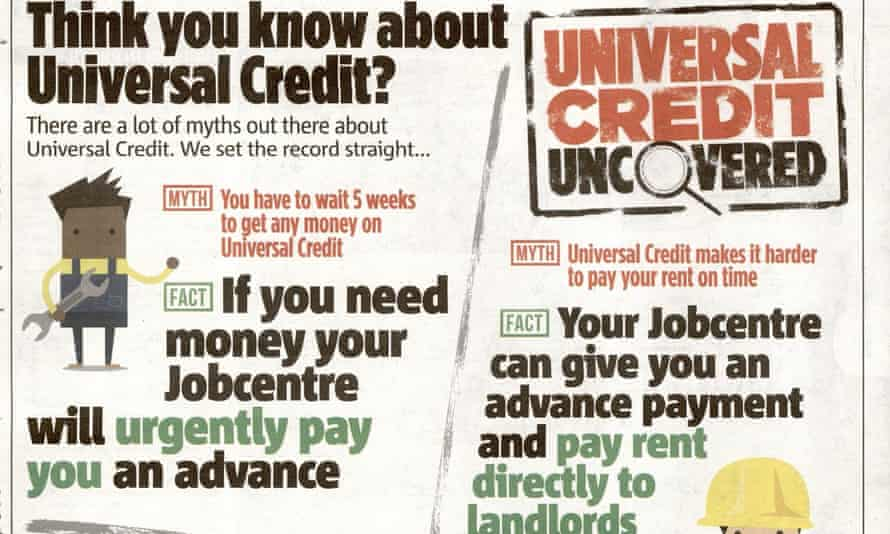 The 'universal credit uncovered' advertorial.