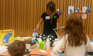 What does your Whopper look like? with Rebecca Ashdown at Guardian Education Centre Cartoon and family art day 10 October, 2015.