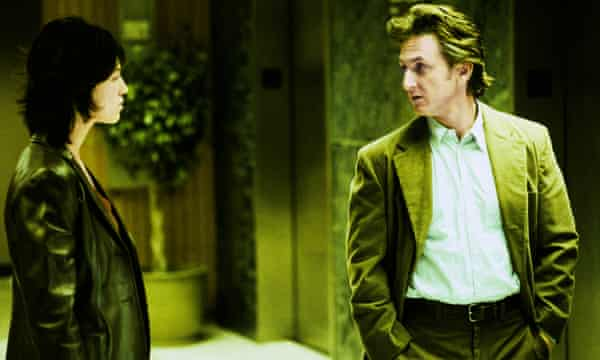 With Sean Penn in 21 Grams, 2003.