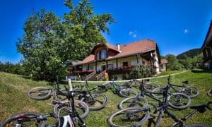 EcoHotel Koroš, Jamnica, Koroška, Slovenia. from http://bikenomad.com/