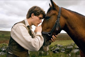 Jeremy Irvine as Albert in Steven Spielberg's 2011 film adaptation of War Horse.