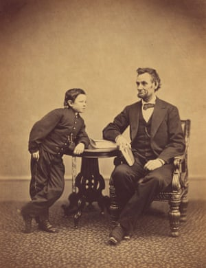 Abraham Lincoln and His Second Son Thomas (Tad), photographed on 5 February 1865