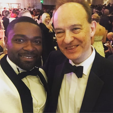 David Oyelowo 'took my phone from me and took the picture repeatedly until he was satisfied'.