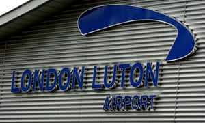 Luton Airport in Bedfordshire