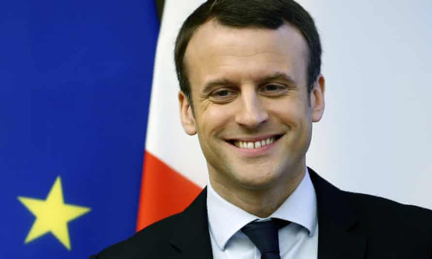 French presidential candidate Emmanuel Macron has gone ahead in the polls for the first time.