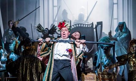 Johannes Martin Kranzle and Allan Clayton in Die Meistersinger Von Nurnberg by Richard Wagner at the Royal Opera House in 2017