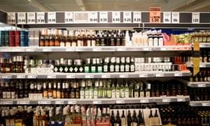 Alcohol on sale in Lidl supermarket.