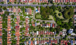 Sydney suburb aerial photograph