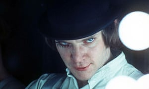 Malcolm McDowell in the film adaption of A Clockwork Orange by Anthony Burgess.