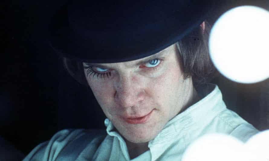 Malcolm McDowell stars as Alex in Stanley Kubrick's film, A Clockwork Orange