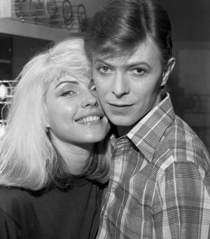 Debbie Harry with David Bowie, backstage during the 1977 Idiot Tour.