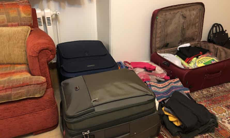 'My suitcases and the packing struggle that went on for a month.' S is an Iranian student whose visa to study in California was cancelled without warning or explanation.